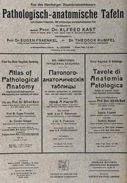 Titlepage To Alfred Kast Pathologisch Anatomische Taflen