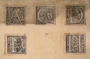 view Eleven decorated initials from the Basel 1555 edition