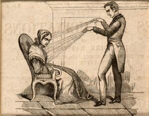 view A practictioner of Mesmerism using Animal Magnetism