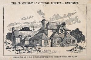 view Livingstone Cottage Hospital, Dartford, Kent. Process print by C.W.E.