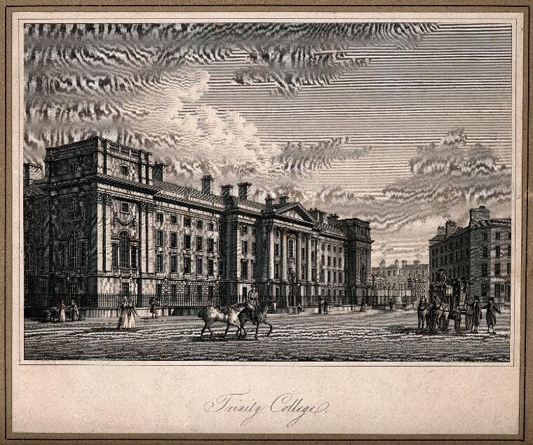 Trinity College, Dublin, Ireland  Line engraving after T  Jacobsen