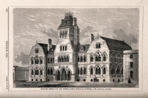 view The Albert Memorial Museum, Exeter. Wood engraving by W.E. Hodgkin, 1864, after B. Sly after J. Hayward.