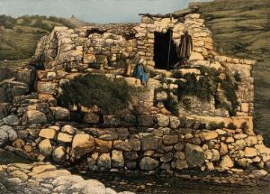 view The Well of En-Rogel, Jerusalem. Coloured photholithograph by A.A. Isaacs.