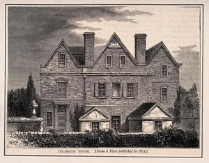 view Coldbath House, Farringdon, London. Wood engraving by [W.H.P.].