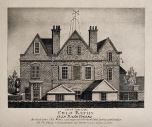 view Coldbath House. Engraving (by J. Bengo?), 1812.