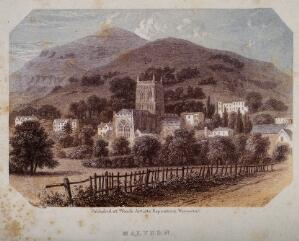 view Great Malvern, Worcestershire. Coloured process print.