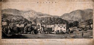 view Malvern, Great Malvern, Worcestershire: plan of town. Lithograph.