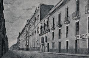 view College of San Ildefonso, Mexico City, Mexico. Reproduction of a drawing by E. Gimeno.