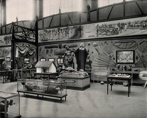 view Musée du Congo, Tervuren, Belgium: one of five interior scenes. Collotype.