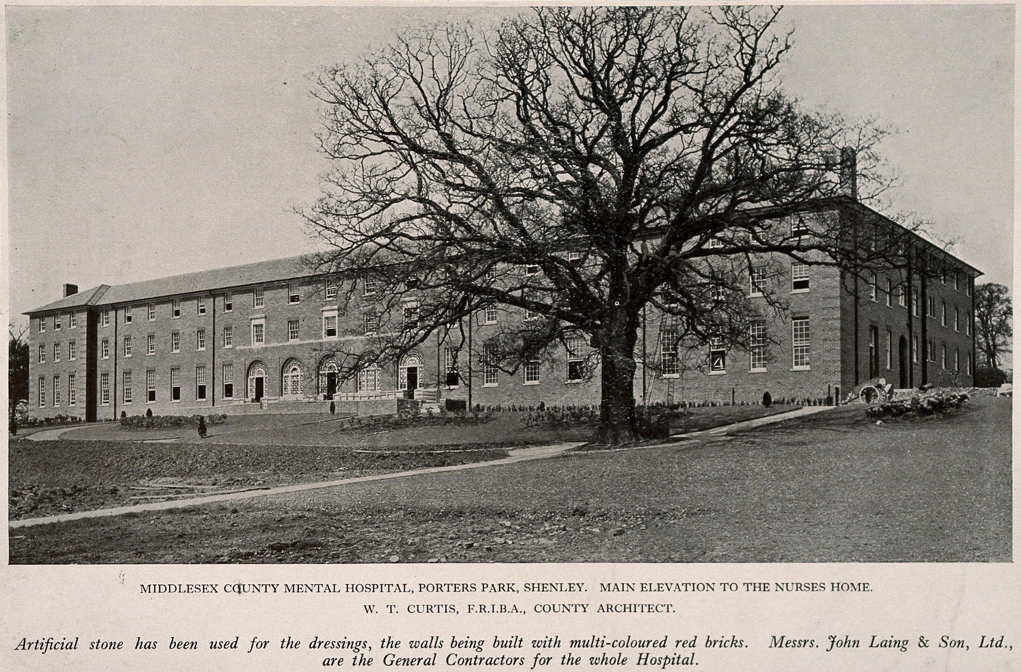 Middlesex County Mental Hospital, Porters Park, Shenley