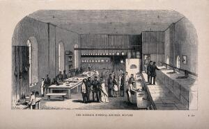 view Crimean War: Barrack Hospital kitchen, Scutari, Turkey. Wood engraving by H.J. Hine and Daniel?