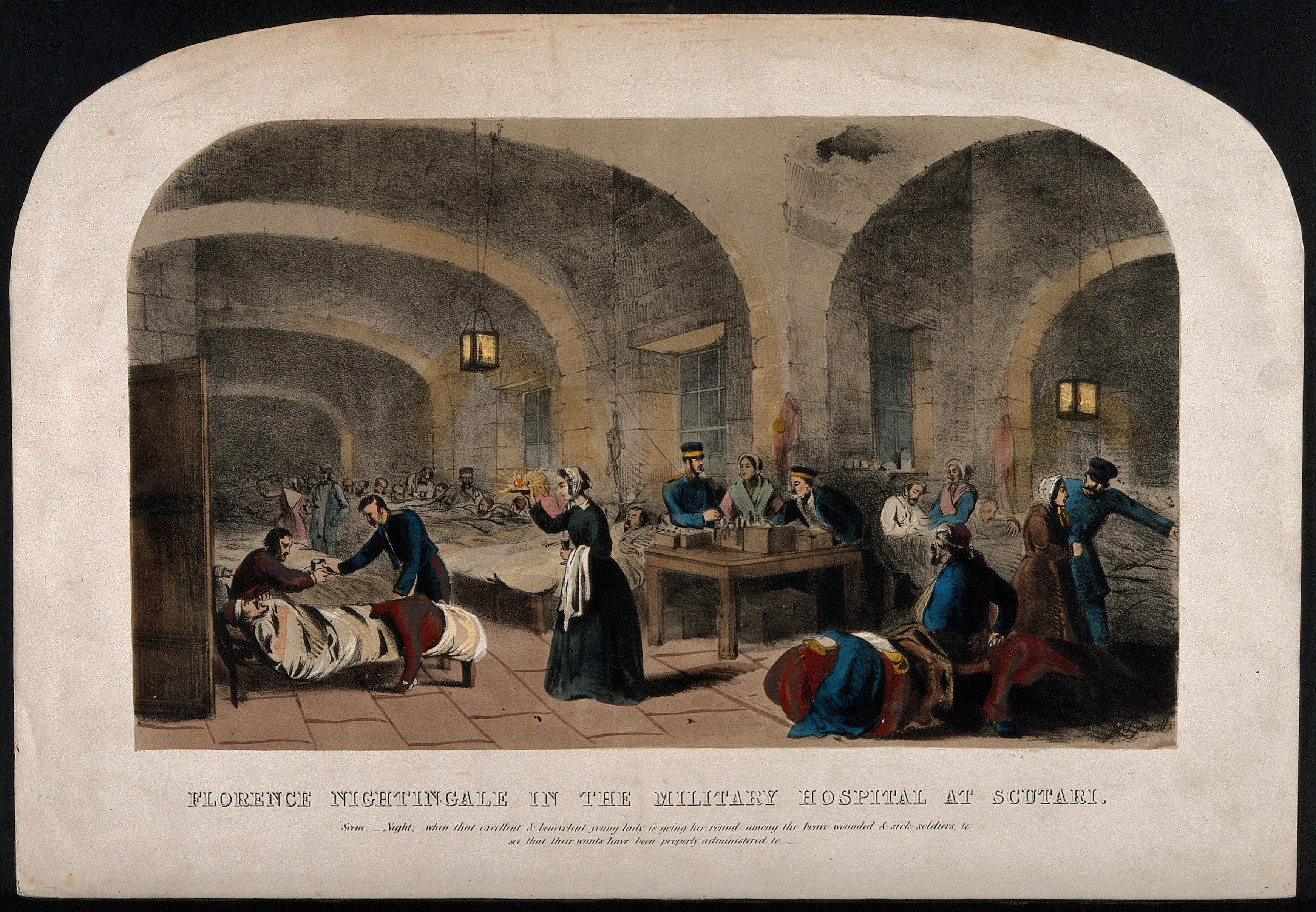 Terms Of Use >> Crimean War: Florence Nightingale checking on her patients ...
