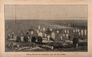 view Crimean War, Cathcart Hill: burial ground. Process print.