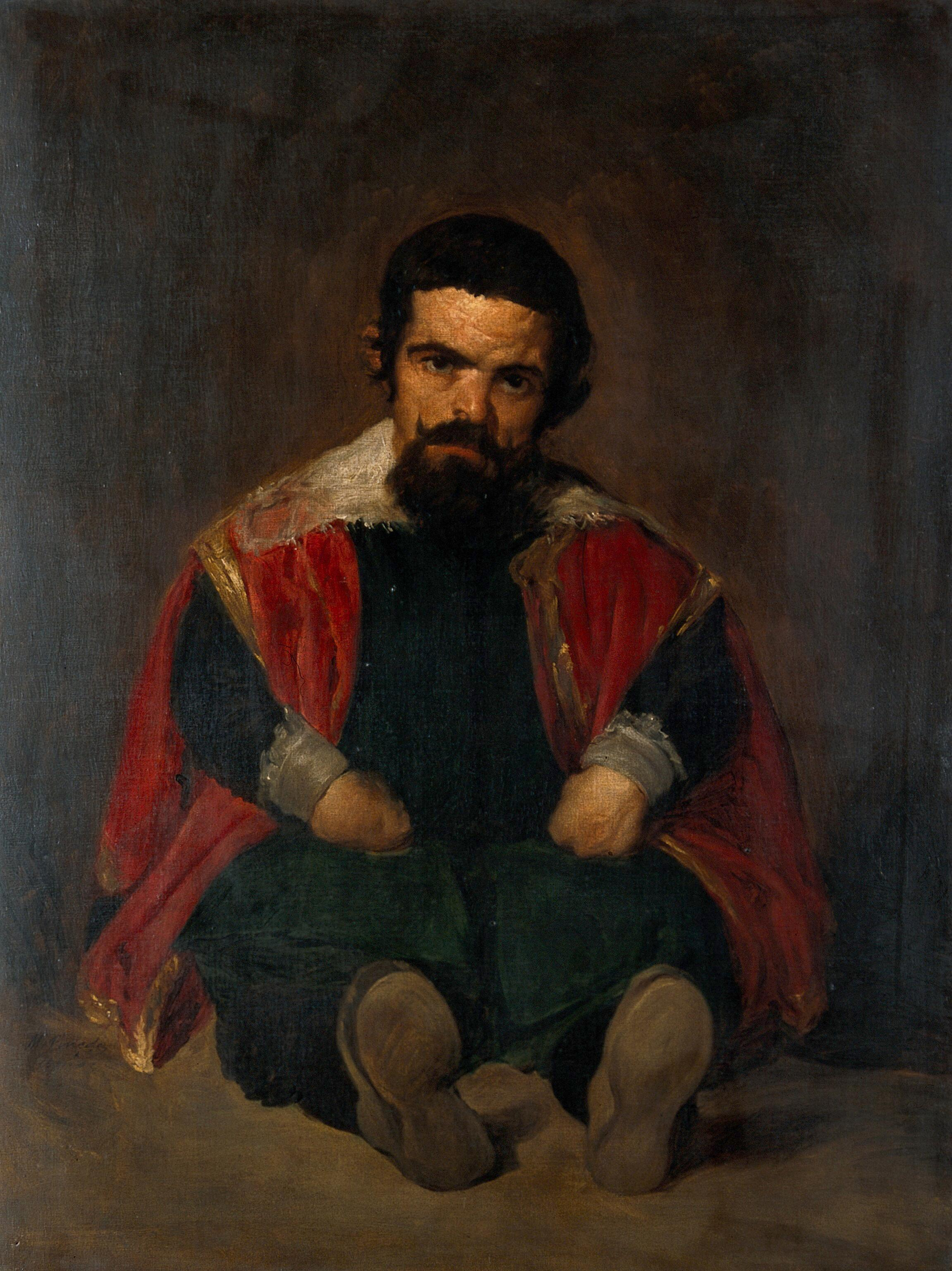 A dwarf at the court of King Philip IV of Spain. Oil ...