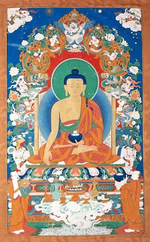 view The Buddha. Gouache.