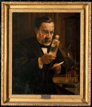 view Louis Pasteur, proponent of the 'germ' theory of disease.