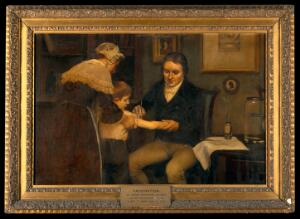 """view Vaccination: """"Dr Jenner performing his first vaccination, 17"""