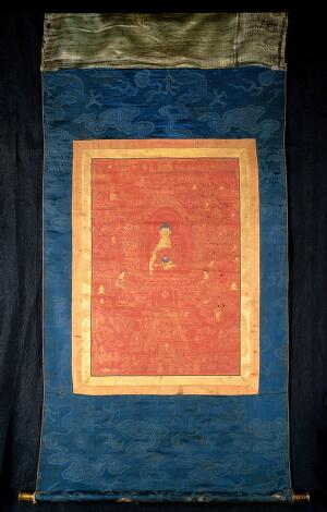 view The life of the Buddha Śākyamuni. Distemper painting by a Tibetan painter.