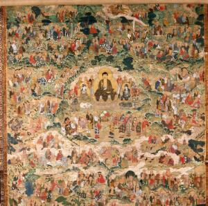 view Buddha with arhats