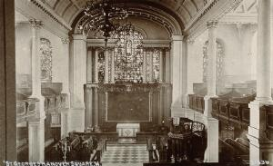 view St. Georges's church, Hanover Square, London; interior. Process print.