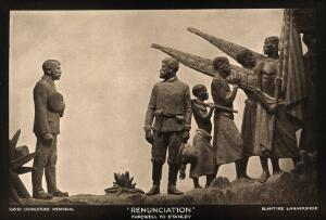 view David Livingstone memorial in Blantyre; Livingstone bidding farewell to Stanley. Photoprint.