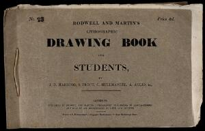 view Front cover of a drawing book for students by J. D. Harding, S. Prout, C. Hullmandel, A. Aglio, & c. Letterpress.