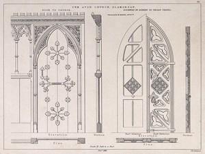 view Cwm Avon Church, Glamorgan. Transfer lithograph by J.R. Jobbins, 1860, after J.P. Seddon.