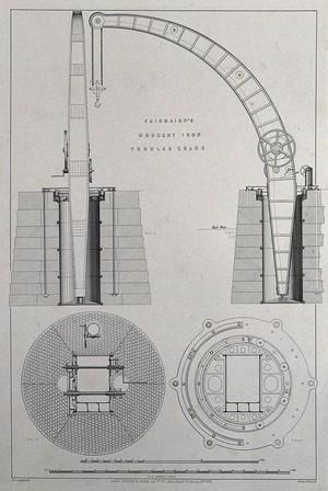 view Fairbairn's wrought iron tubular crane.