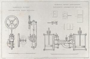 view Samuel's patent locomotive feed engine. Samuel's patent continuous expansive locomotive engine.