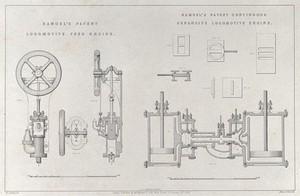view Samuel's patent locomotive feed engine. Samuel's patent continuous expansive locomotive engine.