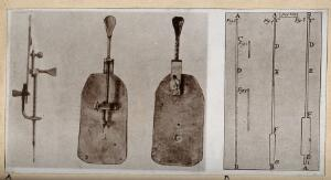 view Optics: glass tubes (right) and Leeuwenhoek's first microscope (left) Photograph.