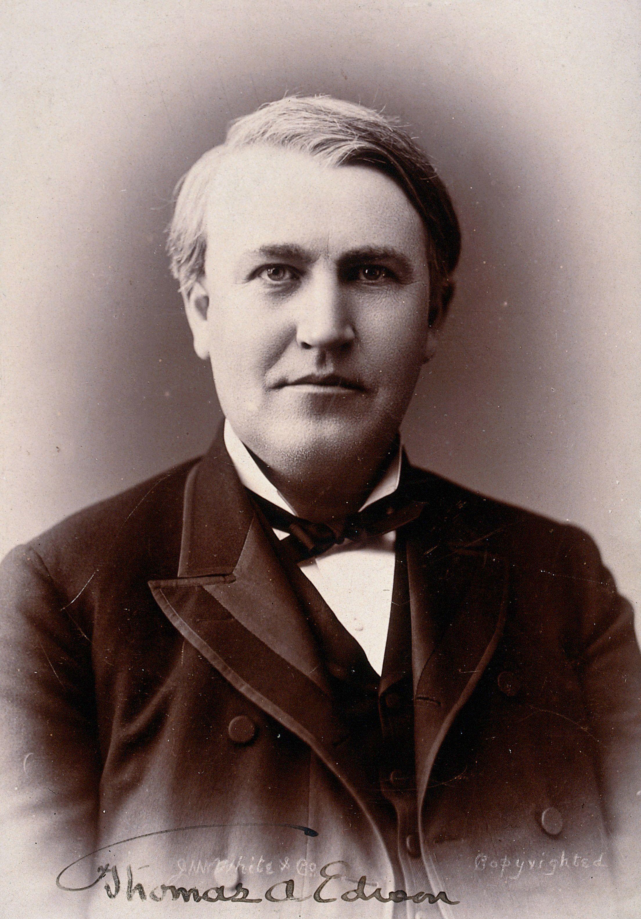 Thomas Alva Edison Photograph By White Co Wellcome