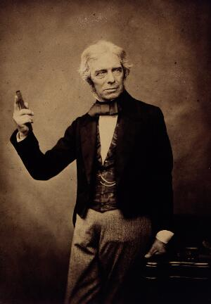 view Michael Faraday. Photograph by Maull & Polyblank.
