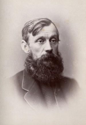 view Sir Michael Foster. Photograph by G. Jerrard, 1881.