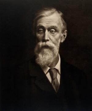 view Sir Michael Foster. Photogravure after the Hon. John Collier.