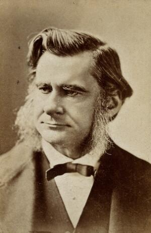 view Thomas Henry Huxley. Photograph by the London Stereoscopic & Photographic Company.