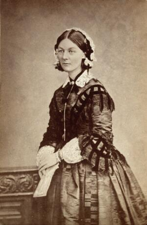 view Florence Nightingale. Photograph by the London Stereoscopic & Photographic Company Ltd.