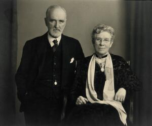 view Sir Arthur Newsholme and Lady Newsholme. Photograph by H.J. Whitlock & Son, 1931.