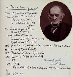 view Sir Richard Owen. Photograph.