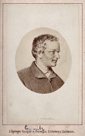 view Vincenz Priessnitz. Photograph by J. Springer after a print.