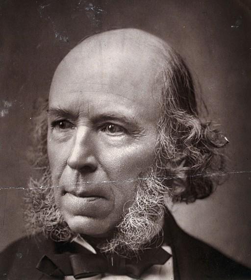 Herbert Spencer. Photograph, 1889.