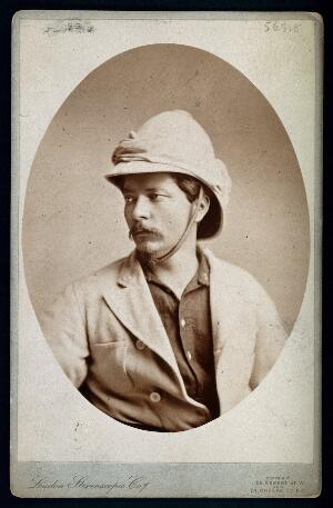 view Henry Morton Stanley. Photograph by the London Stereoscopic & Photographic Company.
