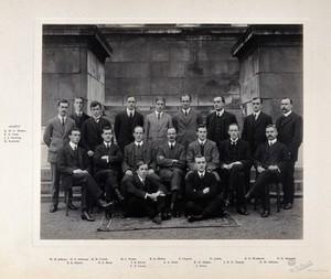 view University College Hospital, London: group portrait. Photograph, ca. 1910.