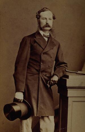 view Sir John Tenniel. Photograph by the London Stereoscopic & Photographic Co.