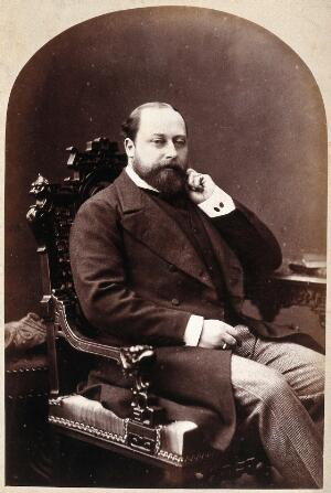 view Albert Edward, HRH the Prince of Wales. Photograph by G. Jerrard, 1881.