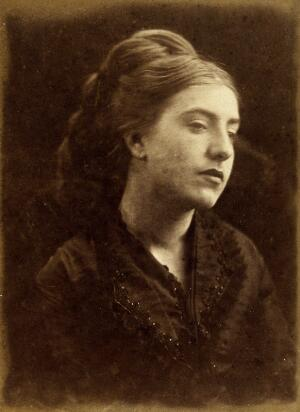 view A young woman in mourning dress. Photograph by Julia Margaret Cameron, 1868/1872.