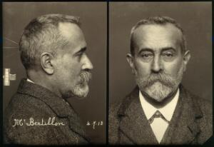 view Alphonse Bertillon. Photograph, 1913.
