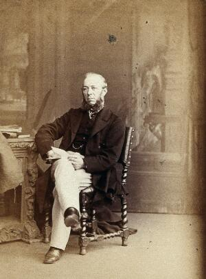 view John Gay. Photograph by Ernest Edwards, 1868.