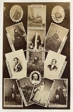 view Queen Victoria and her family: a composition carte de visite. Photograph.
