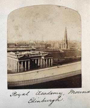 view Royal Academy, the Mound, Edinburgh. Photograph.